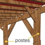 Postes de pérgola de madera