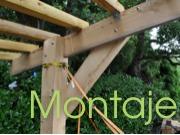 Construcción de pérgola de madera