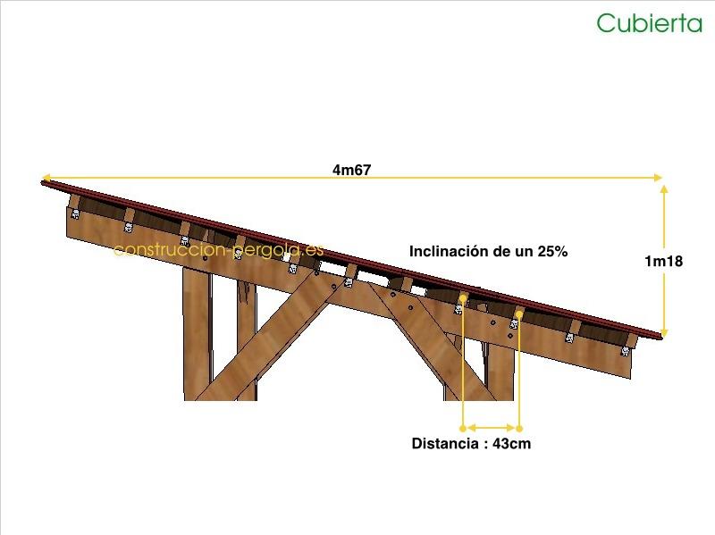 Plano de la cubierta de la cochera