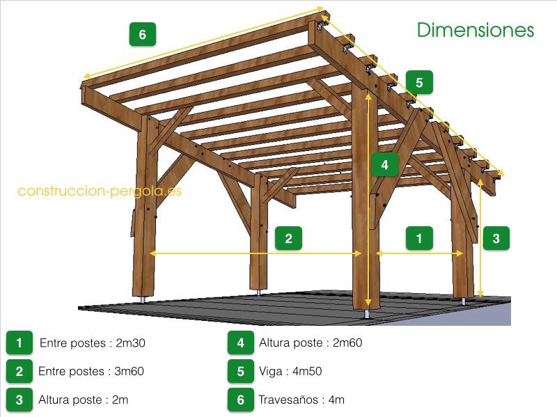 Dise o de p rgolas planos y consejos para dise ar su for Crear una cubierta de madera