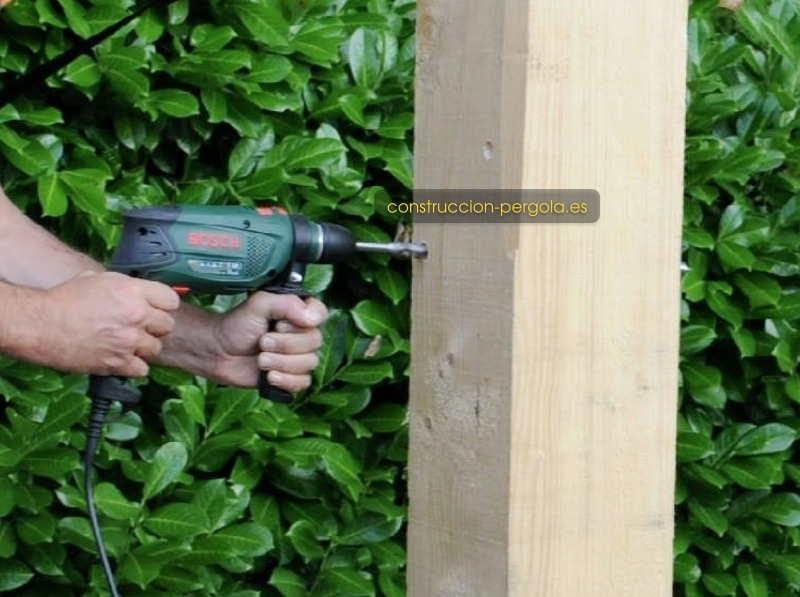 Perforar los postes